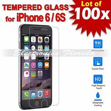 100X Premium Tempered Glass Film Screen Protector 2.5D for iPhone 6 / 6s