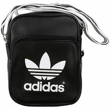 ADIDAS ORIGINALS MINI B ADICOLOR MAN BAG SMALL ITEMS SHOULDER TREFOIL BLACK