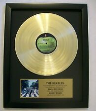 Beatles ABBEY ROAD Gold LP Record + Mini Album Disc Not a RIAA Award + Plaque