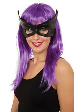 Ladies Black Catwoman Masquerade Mask On Glasses Frame Halloween