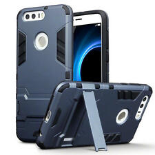 Slim Shock Resistant Armour Case Stand for Huawei Honor 8 - Dark Blue