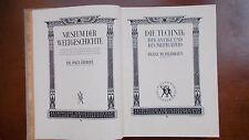 DIE TECHNIK DER ANTIKE UND DES MITTELALTERS, 1931, Erstausgabe