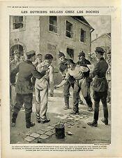 Ouvriers de Belgique Prisonniers Germany Deutsches Heer/Tranchées Canon 1915 WWI