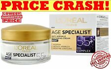 L'OREAL AGE SPECIALIST Night Face Cream 55+ Anti-Wrinkle Lifting Effect 50ml