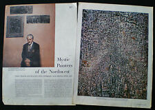 NORTHWEST SCHOOL ART MARK TOBEY GUY ANDERSON MORRIS GRAVES 4pp ARTICLE 1953