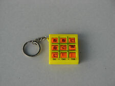 Tic Tac Toe Winnie the Pooh Disney yellow used rare key chain ring