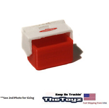 1/10 Rock Crawler, Drift Scale Garage Miniature Red Ice Chest Lunch Cooler LCH01