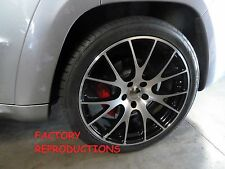 "4) 22"" Machined Hellcat SRT Style Jeep Grand Cherokee Durango Wheels Rims Set"