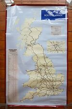 1993 Inter City Route Planner Bartholomew Railway Poster Map