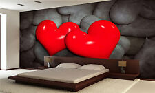 Two Red Heart Wall Mural Photo Wallpaper GIANT WALL DECOR PAPER POSTER