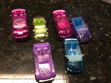 POLLY POCKET 6 Race to the Mall  Cars Lot  * Convertible * Jeep Others Mini Cars