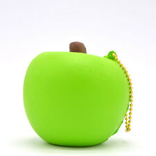 Bite Me Apple Squishy Charm 8cm Relieve Stress Scented Slow Rising Ballchain Toy