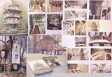 TREE HOUSE~TIMBER BUILDING MAKING FRAMING DOOR FRAME LADDER Stair dome cabin log