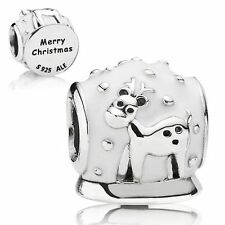 AUTHENTIC PANDORA SNOW GLOBE CHARM #791228EN12 BRAND NEW CHRISTMAS WINTER