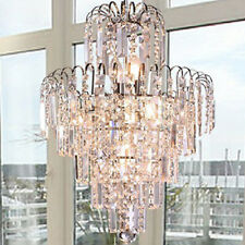 Modern European Crystal 6 Lights Ceiling Pendant Light Chandelier Crown Shape US