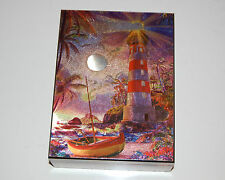 #4128 FOIL RAY OF LIGHT LIGHTHOUSE KEEPSAKE JEWELRY WOOD CEDAR BOX