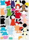 100+ MULTICULTURAL MIXED DOLL BODYS AND ACCESSORIES - SIZZIX