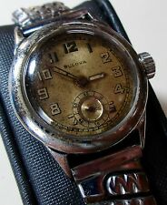 Vintage 1940s BULOVA Military 15J 10AN Gents Wrist Watch   To Restore