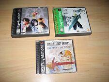 Final Fantasy VIII 8 - VII 7  - Origins - Playstation Ps1 Game Set Complete