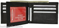 Bifold Wallet Men's Genuine Leather Black Credit/ID Card Holder Purse Gift