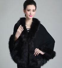 2016 New Shawl Bridal Jacket Wrap Wedding Faux Fur Shrug/coat Prom Party Evening