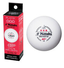 3 NITTAKU 3 STAR ITTF APPROVED PREMIUM SEAMLESS POLY TABLE TENNIS BALLS