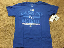 NWT MLB Majestic Authentic Kansas City Royals KC Womens Blue Tshirt 2XL