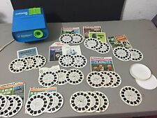 Vintage Viewmaster Entertainer Projector Electric W/12 Movies/30 Reels