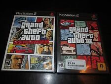 Playstation 2 PS2 Lot Of 2 Grand Theft Auto Games