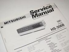 Mitsubishi HS-306B VHS Video Cassette Recorder ~ Service Manual / Repair