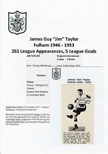JIM TAYLOR FULHAM 1946-1953 RARE ORIGINAL HAND SIGNED ANNUAL PICTURE CUTTING