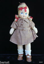 "GIRL SCOUT BROWNIE 1950s GEORGENE NOVELTIES 13"" CLOTH DOLL - ESTATE LIQUIDATION"