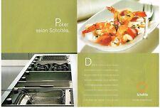 PUBLICITE  2004   SCHOLTES    plaques de cuisson  POKER éléctroménager (2 pages)
