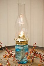 Mason Jar Oil Lamp, Pint Lantern Set, for Power Outages, Camping, Rustic-New
