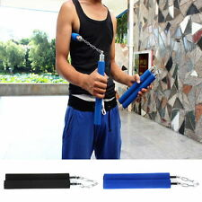 Martial Arts Nunchucks Weapon Foam Sponge Karate Ninja Nunchucks Metal Chain FTK