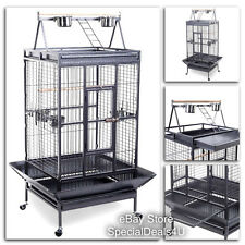 Large Bird Cage Parrot House Finch Cockatiel Macaw Play Pet Stand Parakeet Canar