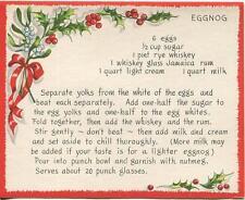 VINTAGE CHRISTMAS EGGNOG JAMAICA RUM RECIPE 1 HARK THE HERALD ANGELS SING CARD
