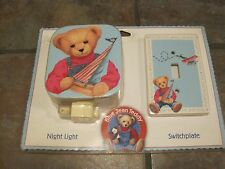 BLUE JEAN TEDDY SWITCHPLATE & NIGHT LIGHT