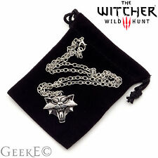 The Witcher 3 Wild Hunt Gato Medallón Collar Con Bolsa-Reino Unido Stock