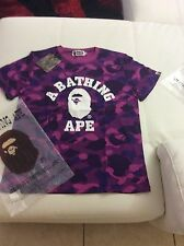 Men's A Bathing Ape Shirt Purple Camo Size L