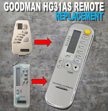 Amana/Goodman replacement air conditioner remote Part B1100108 Model HG31AS