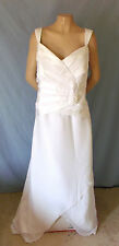NWOT Gorgeous Floor Length White JenJenHouse Column Wedding Gown Plus Size 22W G