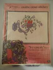 Vtg Paragon Needlecraft Creative Crewel Embroidery Kit Ivy Cascade SEALED