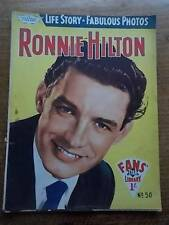 Vtg No 50 Magazine 1958 Fans Star Library Exciting Glamour Photos RONNIE HILTON