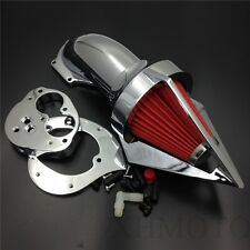Chromed Triangle Air Cleaner Kits Intake For Kawasaki Vulcan 1500 2000-2012