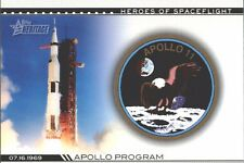 APOLLO XI 11 ARMSTRONG ALDRIN COLLINS HEROES SPACEFLIGHT 2009 TOPPS HERITAGE