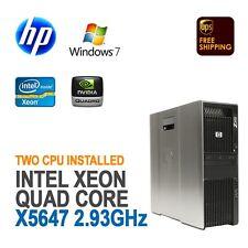 HP Z600 Workstation ( 2x XEON X5647 2.93GHz, 12GB,  500GB, Windows 7 Pro )