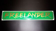 Land Rover FREELANDER Back Rear Green/Gold Decal Logo Adhesives Vinyl Sticker