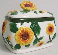 Sunflower Ceramic Cookie Jar Canister