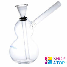 SMALL MINI HANDMADE GLASS WATER SMOKING BONG TRANSPARENT TOBACOO PIPE 13 CM NEW